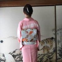 23日、2件目の出張着付は堺市美原区、七五三前撮りに行くお母様の訪問着の着付でした。
