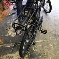 二人乗り自転車の旅・・・タイヤ、グリップ交換。