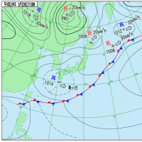5月28日 アメダスと天気図。