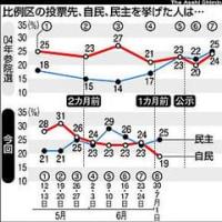 自民、04年より逆風 「年金選挙」1カ月前 世論調査
