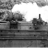 蒸気機関車 停車中