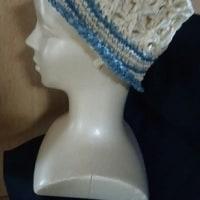 孫のチマキちゃんに、夏帽子を編みました~~!