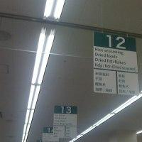 スーパーの案内板