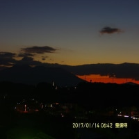 2017年1月14日、朝の桜島