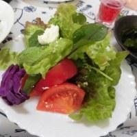 リコッタチーズ入りグリーンサラダ・・・飯村波料理教室