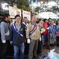 渋谷ハチ公広場の清掃活動