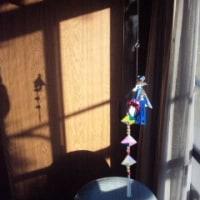 そば祭りの前日、テルテル影坊主を作りました。