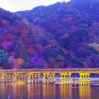 薄暮の京都嵐山