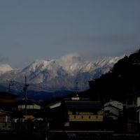 石鎚山も真っ白