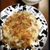 長芋と納豆のお好み焼き風♡