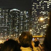 香港 オープントップバス乗車