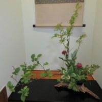 ナツハゼとアザミのコラボ で お花のお稽古