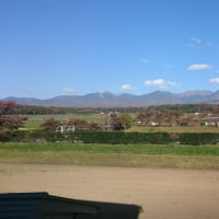 今日は八ヶ岳がくっきり見えています。