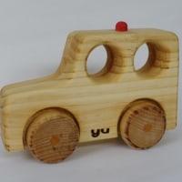 木のおもちゃ(パトカー)