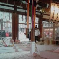 今宮戎の残り福へ。おみくじは凶。廣田神社へ。おみくじは吉。残り福で参道の屋台へ。安陵商店のギガ盛り焼きそばにチャレンジ。大食家の私でもギブアップ。3日間で1万玉焼くとか。
