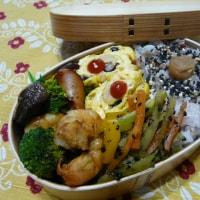 お弁当(海老&ウインナーのバルサミコソース)