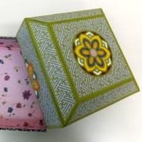 韓紙工芸作品 新作ご紹介「2017年展示会に向けて」(40)花の小箱