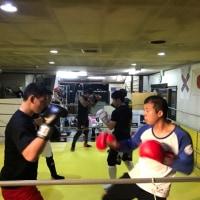 10/27夜のキックボクシング基本&レギュラークラスの風景