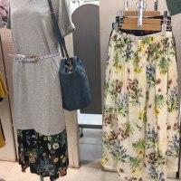 オススメ花柄の長い丈のスカートは、綺麗めも、ナチュラルも、