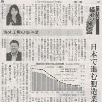 #akahata 日本で進む製造業空洞化/海外工場の事件簿⑦ グローバル経済の迷宮・・・今日の赤旗記事