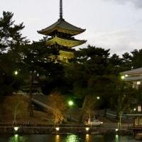 夕暮れ時の猿沢池周辺!・・・興福寺 ならまち