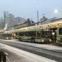 京都・四条通り・雪景色