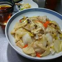 ある野菜で、ランチは中華丼💕