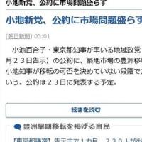 東京都知事が率いる地域政党「都民ファーストの会」が