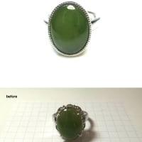 ヒスイの指輪をリフォームしました。