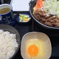 朝から牛すき鍋@Y野家