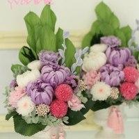おしゃれ仏花  プリザーブドフラワーの可愛らしいお供え