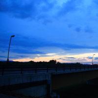 新十津川の日没