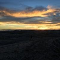 砂丘の夕景