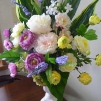 絵画個展の祝い花