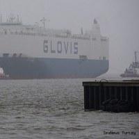 損傷した車両運搬船Glovis CoronaがBremenhavenに到着  ドイツ