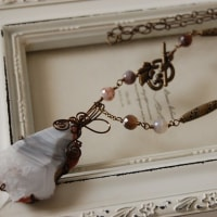 千葉そごう店 8月18日(金) 講習会作品「しまめのうのネックレス」