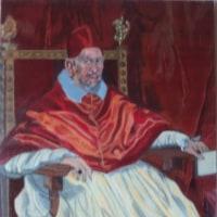 模写「教皇イノケンティウス10世」「セビーリヤの水売り」「ピンクの服のマルガリータ王女」