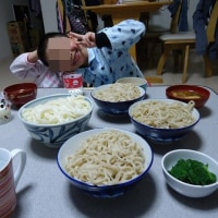 家族で麺を啜る
