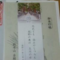 ブログ160913 高野山~熊野古道の旅  金剛峯寺 御朱印