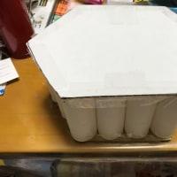 トイレットペーパーで踏み台作りました