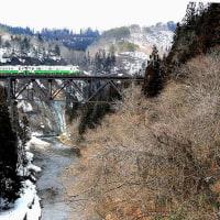 滝谷川谿谷渡る列車の撮り鉄を楽しんで来ました。