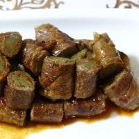 たこ焼き&豚肉の生姜焼き&かちんうどん&ゴボウの牛肉巻き