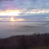 いい朝、霧の海・日の出