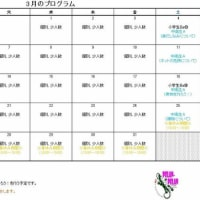 平成29年3月カレンダー