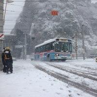 2/8、逗子も大雪、横須賀線運休