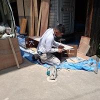 倉敷市玉島上成の住宅リフォーム現場も正念場の数日