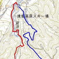 小貝月山 貝月谷800左俣860右俣遡行、登山道下山。