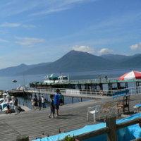 北海道の景色。(支笏湖)