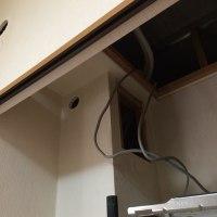 隠ぺい配管の仕様を変更してエアコン設置