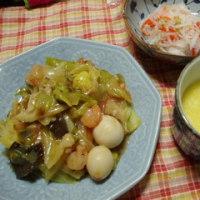 八宝菜&中華卵スープ